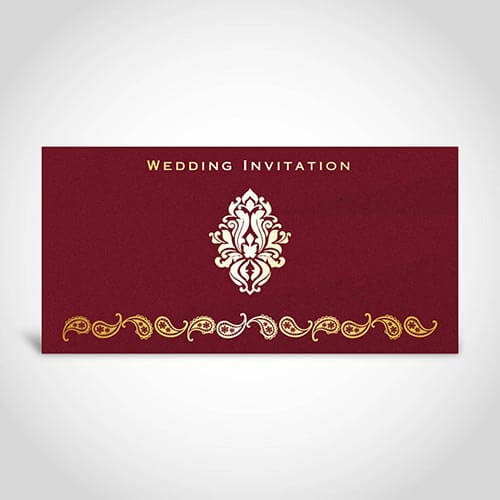 Simple Indian Wedding Invitation Card CardFusion