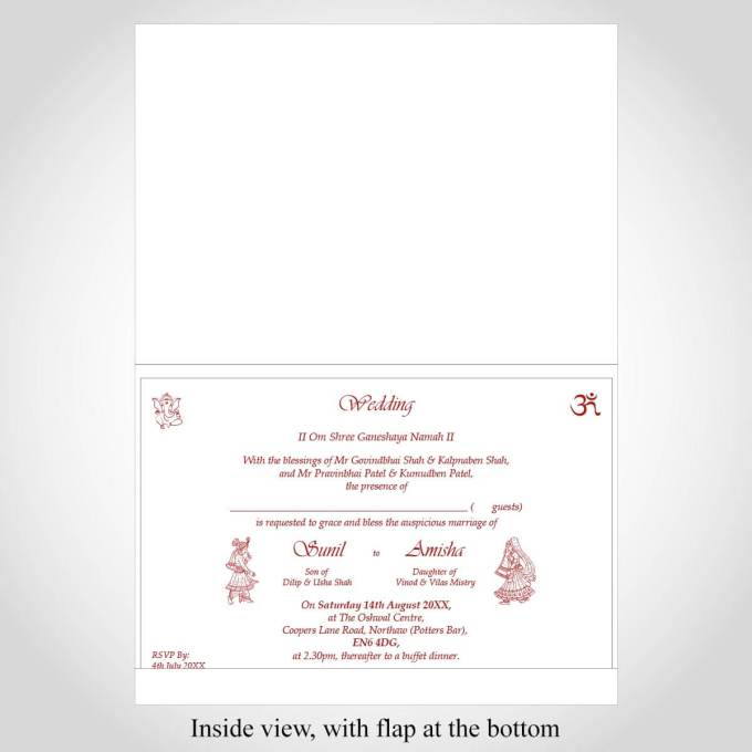 Floral Indian Wedding Card – CFK224