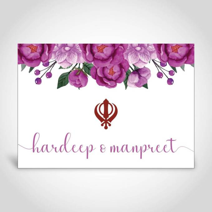 Khanda Floral Indian Wedding Invite – CFS178