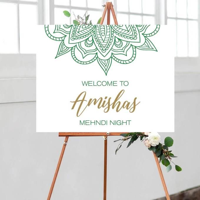 Indian Wedding – Mehndi Welcome Sign – 5