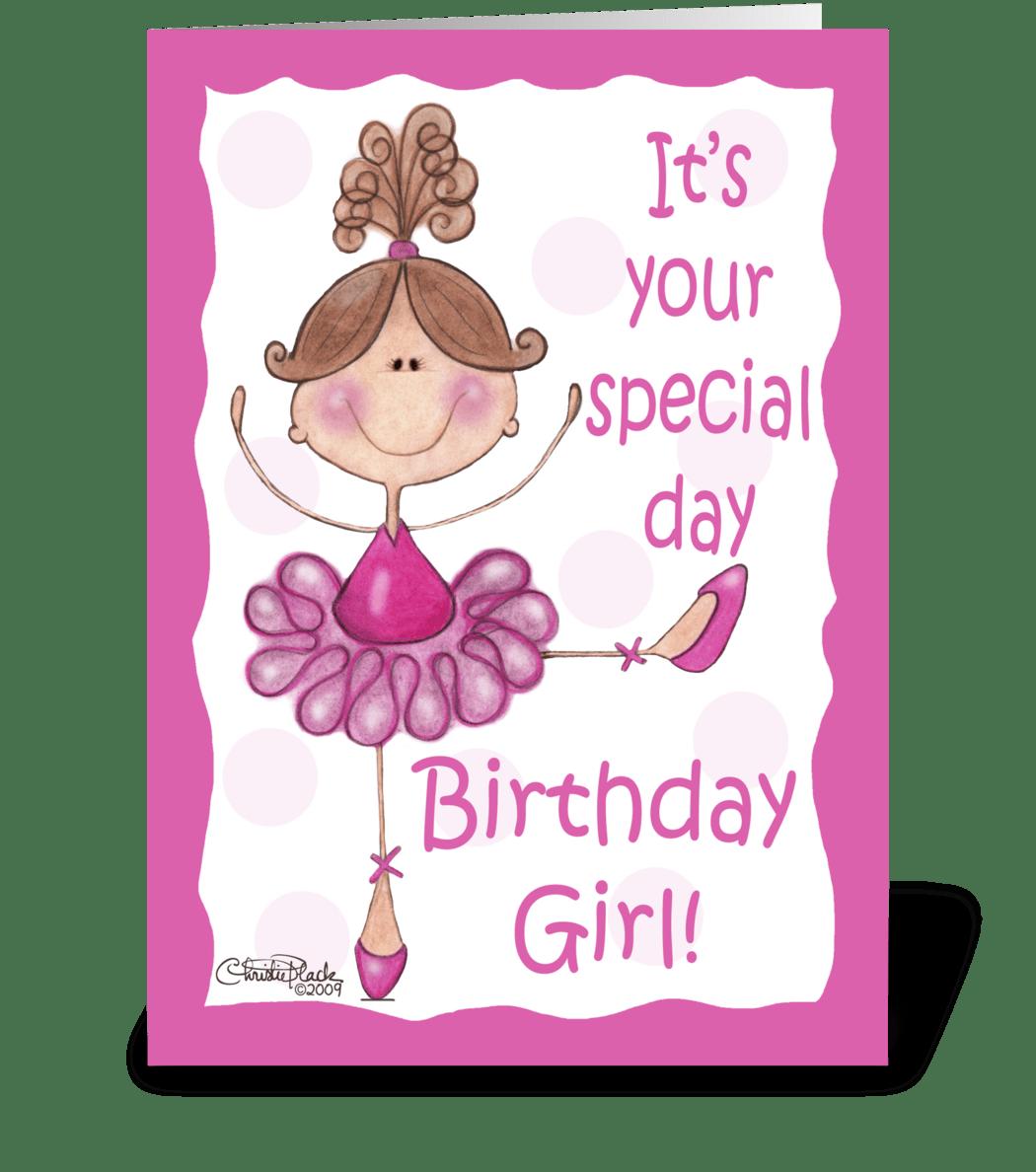 Ballerina For Birthday Girl