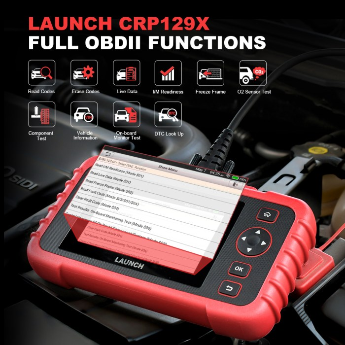 LAUNCH CRP129X OBDII DIAGNOSTIC TOOL OBDII FUNCTIONS