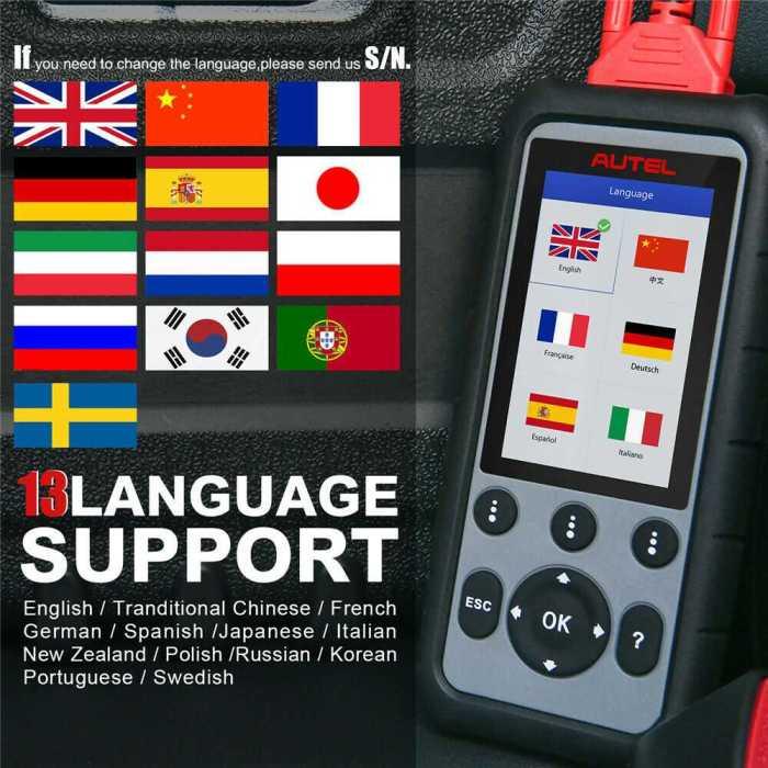 Autel MaxiDiag MD806 Pro Language