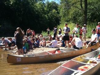 Residence Life canoe trip