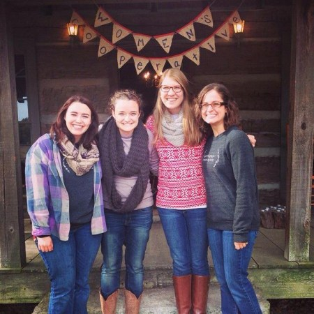 the Women's Cooperative leadership team relaxes  after their fall retreat goes smoothly| photo submitted by Lauren  Bone