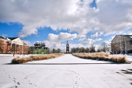 Campus was covered in snow and ice for much of last week.