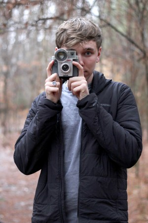 Haaken Magnuson poses with camera