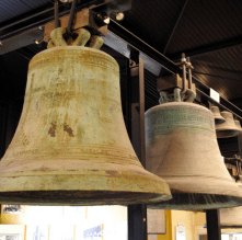 Finished Paccard bells hang in the French foundry. | Photo submitted by frenchmoments.eu