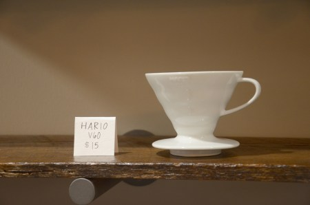 Varieties of coffee and tea brewers are offered for sale at Modero. | Photo by Gretchen Foels, staff photographer