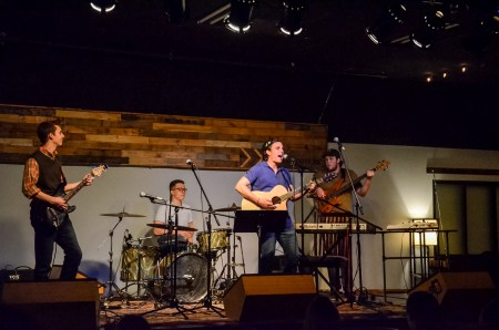 Tanner Cherry and Co. finish out Open Mic at Barefoots Joe. | Photo by Gretchen Foels, staff photographer