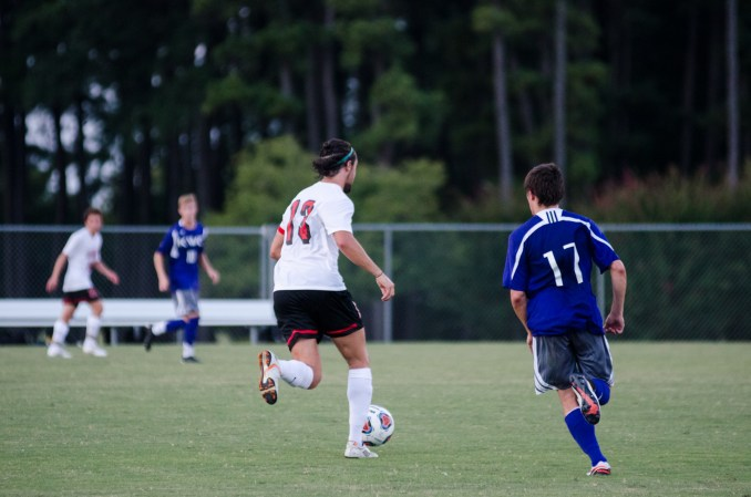 Zac Fletcher scores goal right after halftime. | Photo by Gretchen Foels, staff photographer