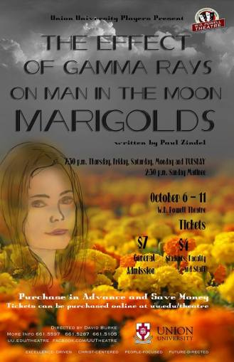 The Effect of Gamma Rays on Man in the Moon Marigolds will open October 6. | Photo courtesy of Union University theater department.
