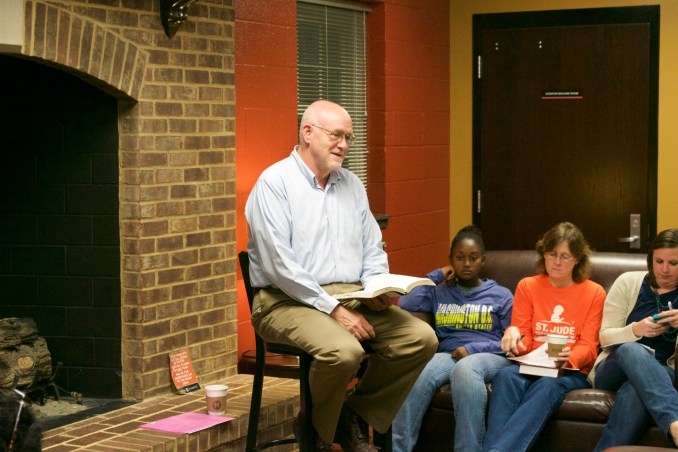 Don Dent read from Isaiah 60 and reminded students that God intends to bring every nation to Himself.
