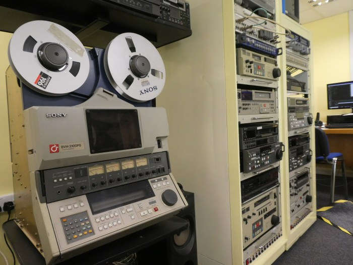One inch video tape recorder.