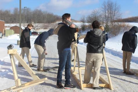 DCC Catapult Trials in Intro to Engineering