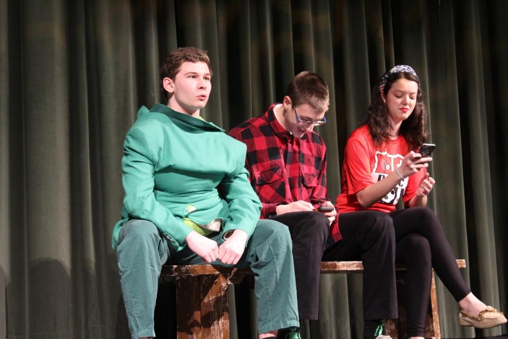 Senior Drama Class Performs Skits for Kindergarten and