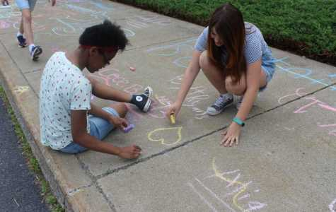 DCC 6th Grade Enjoys Making Sidewalk Chalk Summer Wishes