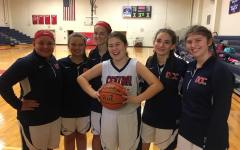 8th Grade Lady Cardinals Basketball Ready for Father Gregory Leopold Tournament