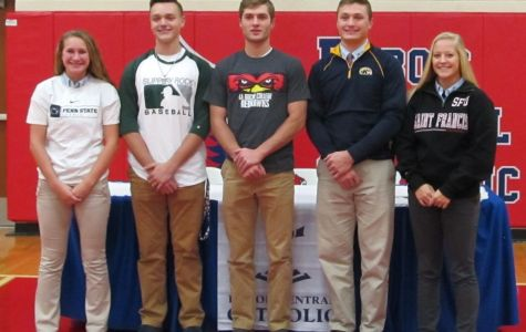 Five DCC Students Sign for College Sports Programs