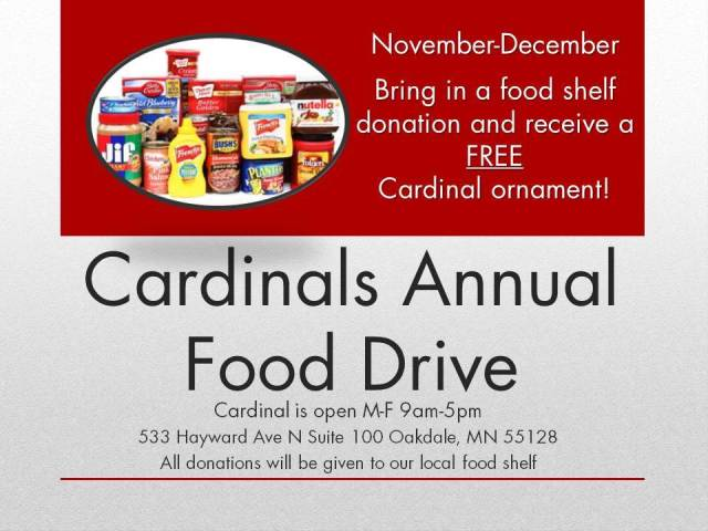 Cardinals Annual Food Drive