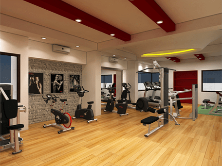 A Particular Floor Finish That Precise Mix Of Fitness Equipment Lots Light Easy Access Perfect Environment