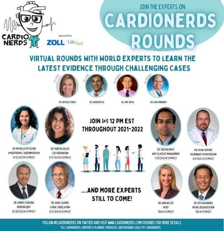 CardioNerds Rounds Promo Graphic
