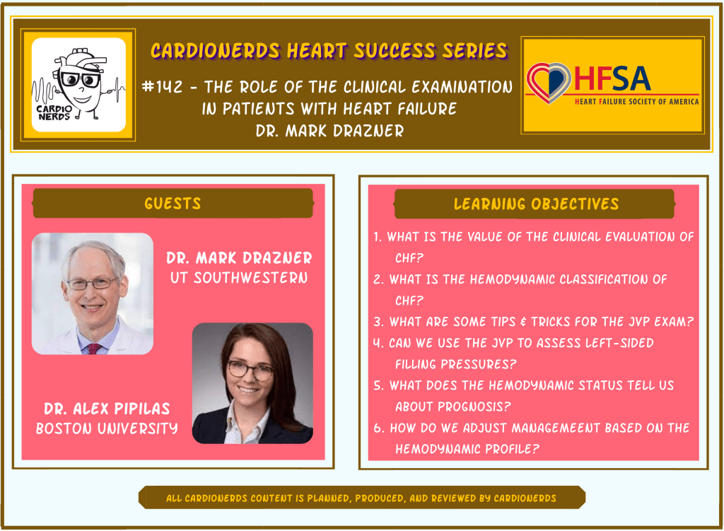 142. The Role of the Clinical Examination in Patients With Heart Failure - with Dr. Mark Drazner