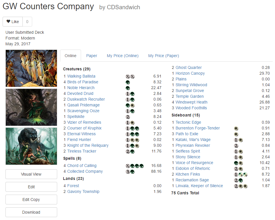 counters company list