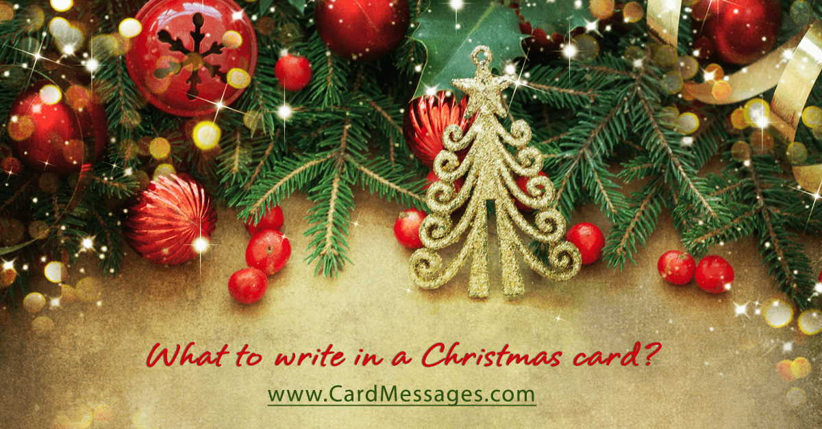 What To Write In A Christmas Card Card Messages