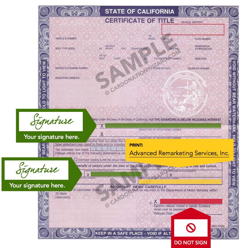 Back Of Car Title California | Carbk co