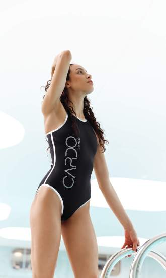 CARDO Paris Luxury Swimwear a piece black beach pool
