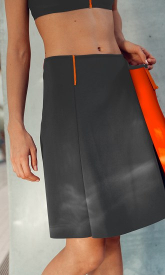 CARDO Paris grey bath skirt