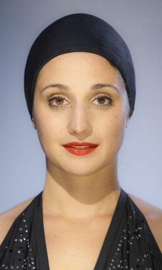 bonnet de bain piscine CARDO Paris tissu déperlant confortable noir tuxy