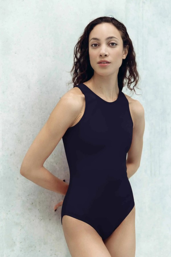 CARDODIVE navy bleu swimsuit with blue white red zip CARDO Paris swimming pool beach swimwear pretty elegant comfy french