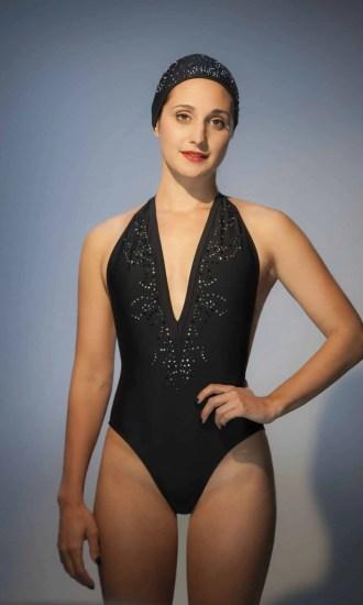 Maillot de bain NEVADA Vegas Swarovski CARDO Paris piscine swimwear joli élégant confortable français