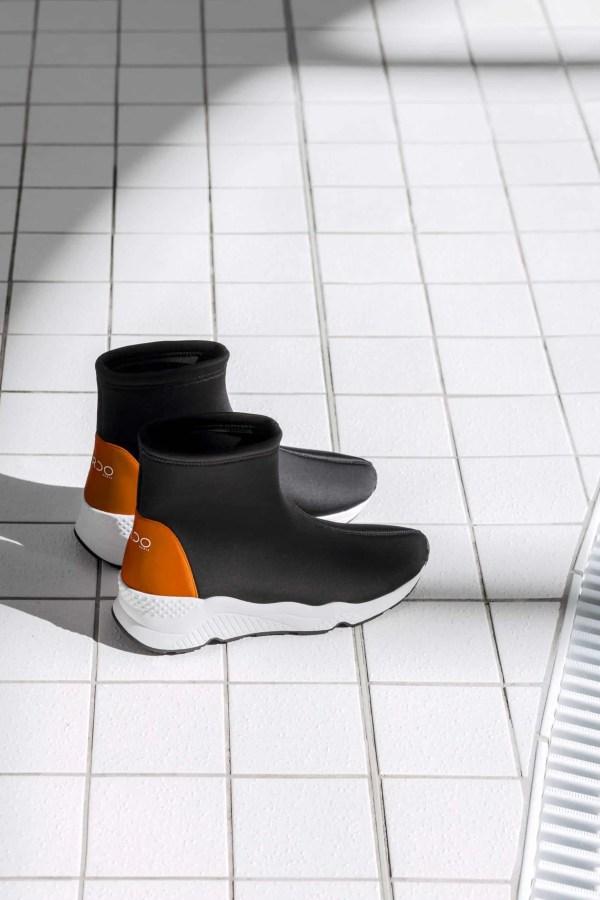 BASKETS neoprene talon orange CARDO Paris piscine swimwear joli élégant confortable français