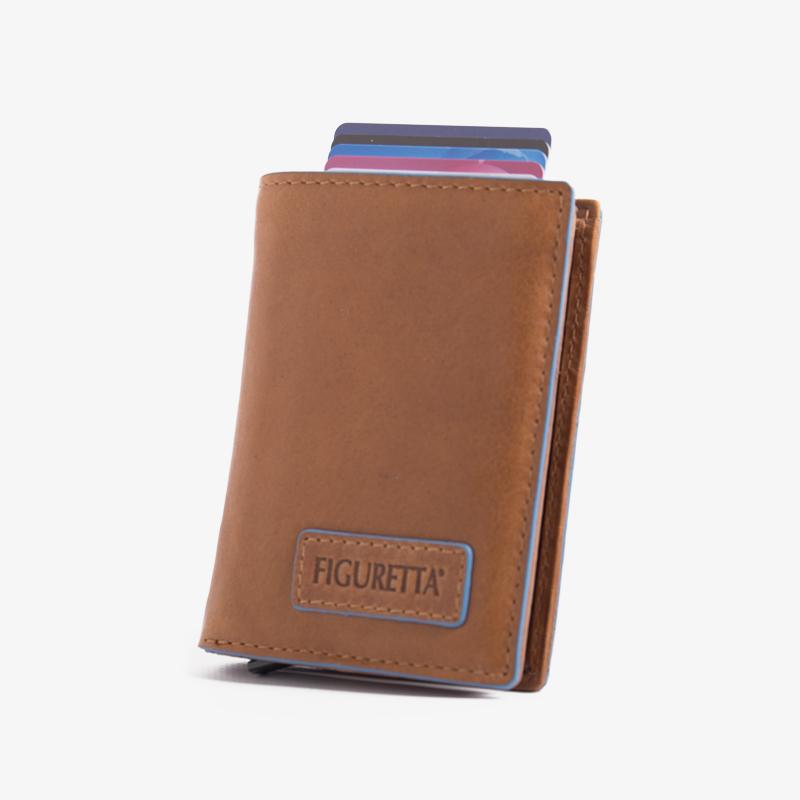 Figuretta - Blue Line Cognac Leder