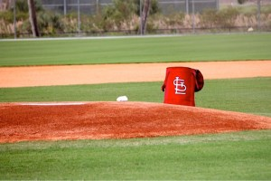 Cardinal bag on mound