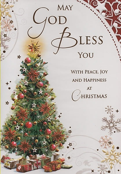 Christmas Cards May God Bless You
