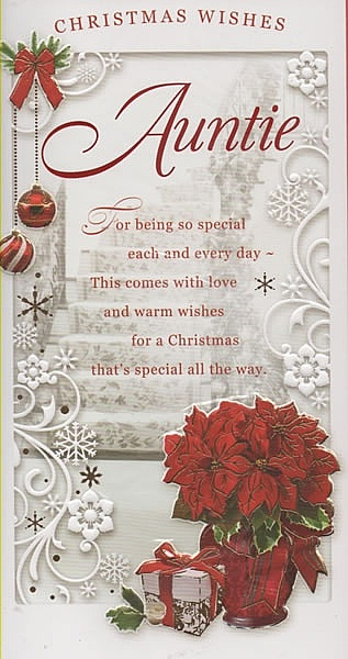 Female Relation Christmas Cards Christmas Wishes Auntie