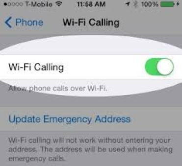 Wi-Fi Calling on Apple Devices
