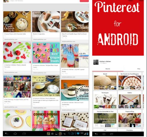 Pinterest App on Android
