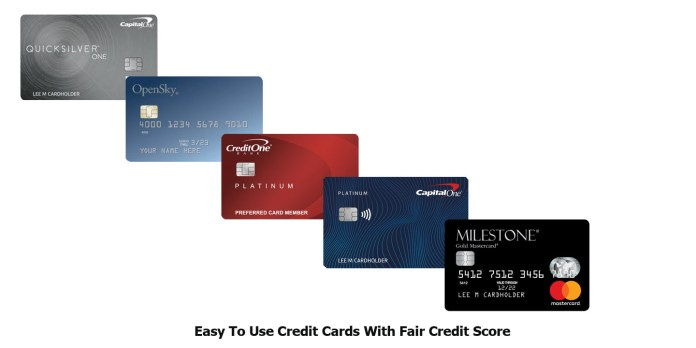 Easy To Use Credit Cards With Fair Credit Score