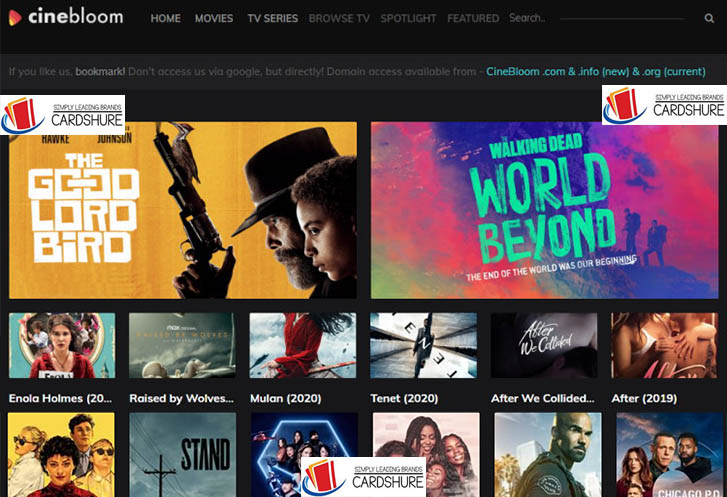 CineBloom - Hollywood and Bollywood Movies Download Website