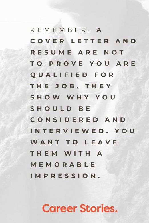 An effective cover letter show why you should be considered for a job and leave a memorable impression