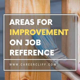 areas for improvement on job reference