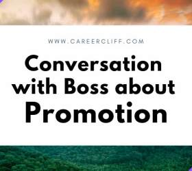 Conversation with boss about promotion