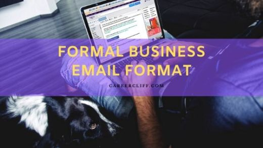 formal business email format