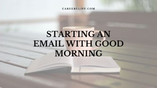 starting an email with good morning