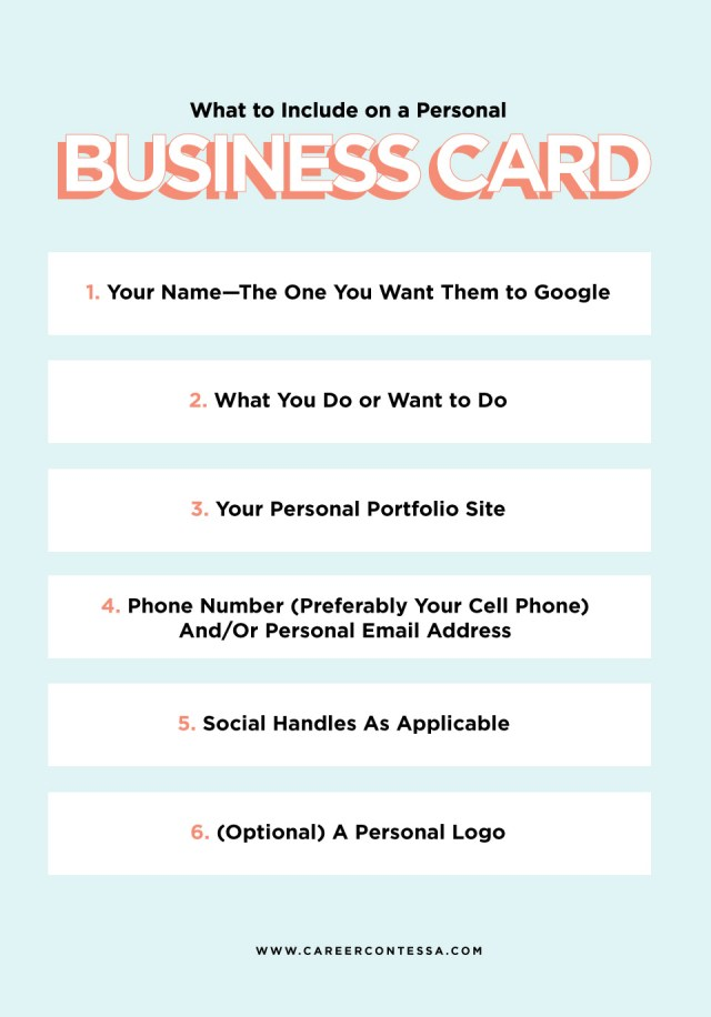 What to Put on a Personal Business Card (+ A Template)  Career